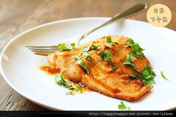 看起來超好吃的烘烤楓糖鮭魚