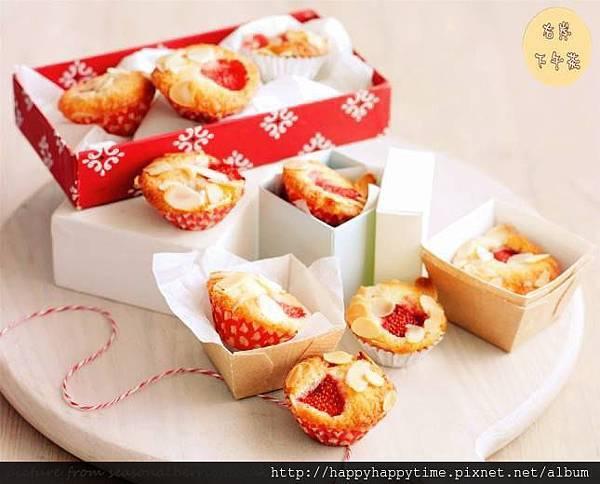 草莓杏仁小蛋糕