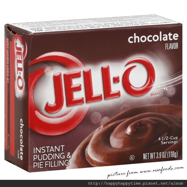 Jello chocolate Instant Pudding mix 3.9oz.