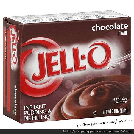 Jello chocolate Instant Pudding mix 3.9oz.