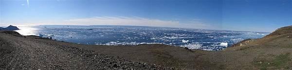 前美軍雷達基地下方之海上浮冰