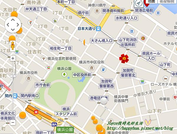 橫濱關內日航酒店 地圖.png