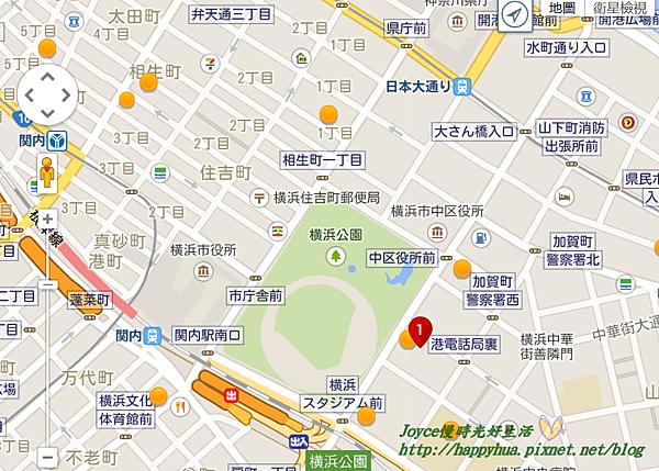 東橫inn橫濱棒球場前 關內 地圖.png