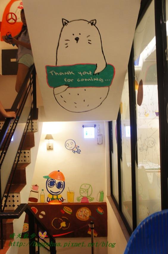 1437065777 6733297 - [台中美食]à la sha Càfe台中旗艦店~充滿童趣插畫和外星人的親子友善餐廳 每個角落都吸睛 燉飯美味更加分