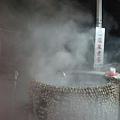 冒煙的溫泉