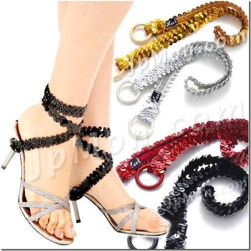 【Aya_Style】奢華風-時尚晶燦腳踝亮片環帶(魅力紅)