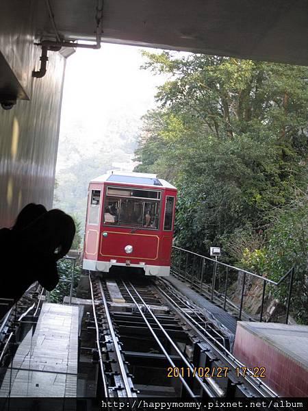 2011.02.27 香港行 中環 太平山夜景   登山纜車