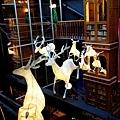 宮原眼科耶誕裝飾 糜鹿滿天飛  還有美麗的雕花天花板