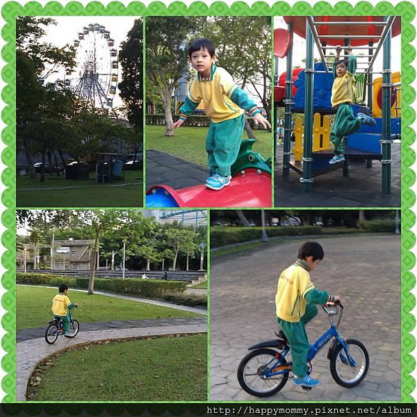 2013.04.15 美崙公園玩耍 騎單車 (1)