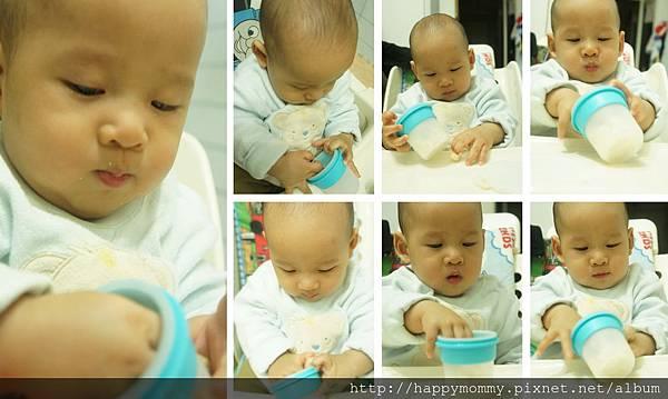 東尼吃手指餅乾 裝在矽膠儲存杯 (3)
