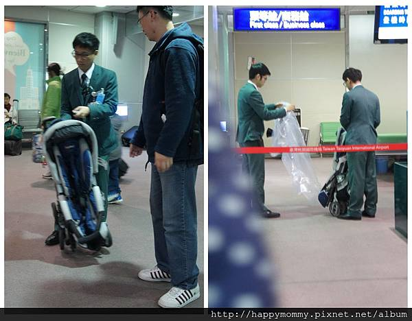 2015 東京跨年 桃園機場嬰兒搭ANA全日空 嬰兒車 嬰兒掛籃 (1).jpg