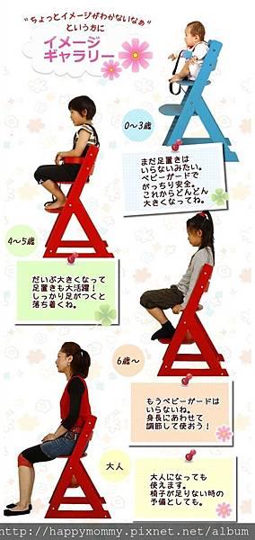 成長型餐椅
