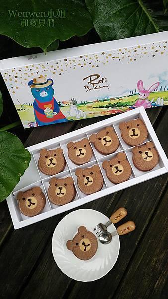 2018.10 卷卷蛋糕彌月試吃 小熊生乳銅鑼燒 可愛又好吃.JPG