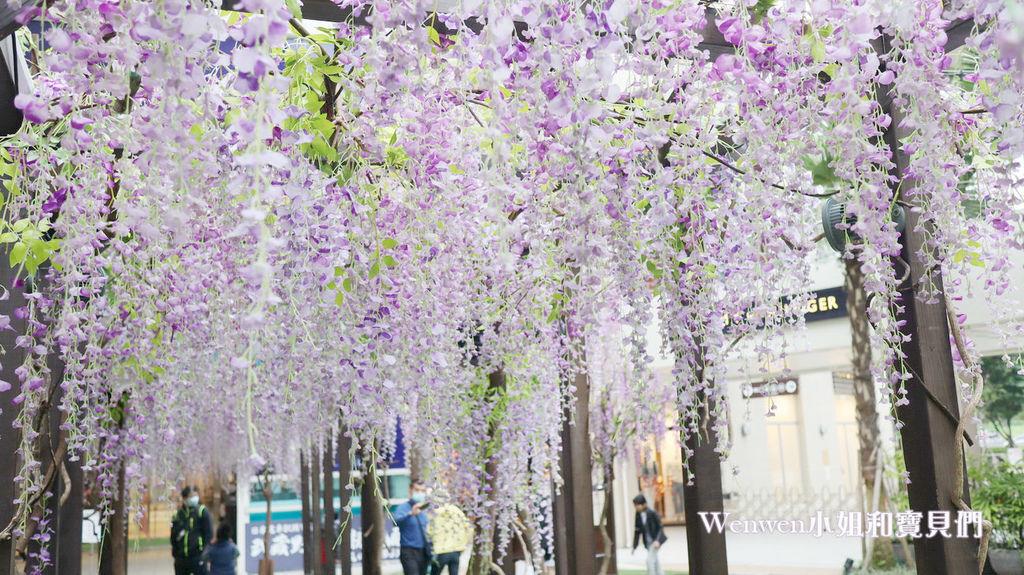 2020.04.05 林口三井outlet mall 紫藤花造景 (5).JPG