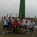 2013_04_27團員們.起來晨跑吧!快樂跑攻佔漁光燈塔.