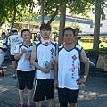 2013_06_23早安6:30億載金(晨)跑快樂跑,謝謝王明仁大哥的包子和郭振添大哥的Fin呦。