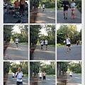 2013_08_11早上補給,看到大家開心的跑,眼前出現新面孔,^_^玄宗大哥歡迎你,早上跑步天氣真的很熱,日頭很大,但跑完一起喝飲料,吃包子聊聊天也很棒耶。