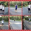 2013_08_11早上補給,看到大家開心的跑,眼前出現新面孔,^_^玄宗大哥歡迎你,早上跑步天氣真的很熱,日頭很大,但跑完一起喝飲料,吃包子聊聊天也很棒耶。2