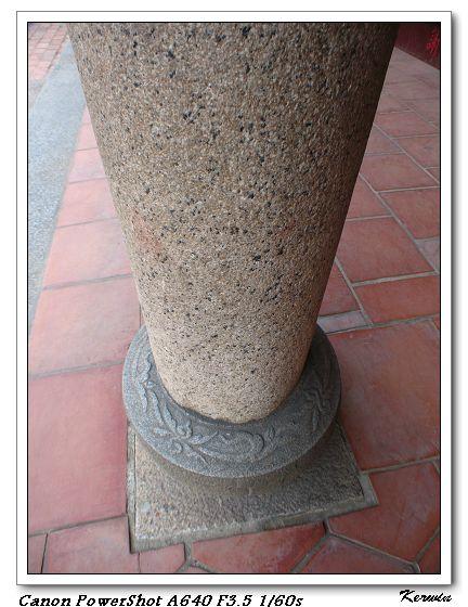 石柱下的花樣