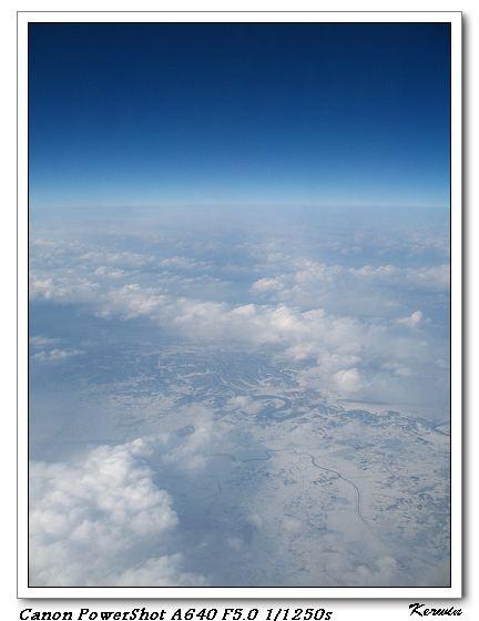 到韓國的上空了唷