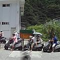 綠島排隊加油人潮