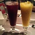 蜜桃黑醋栗汁&奇異芒果汁