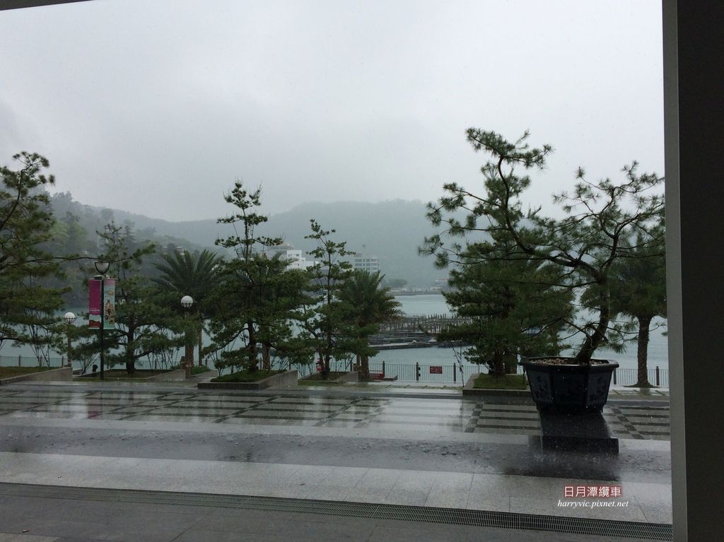 日月潭纜車站-下大雨