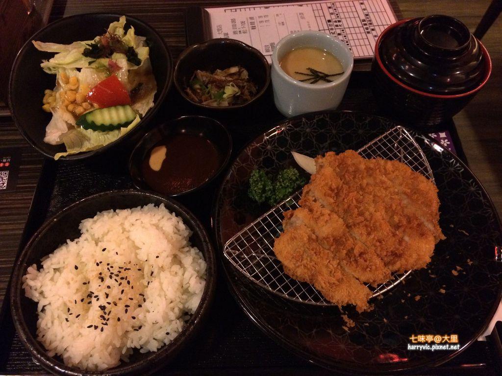 七味亭-日式沙朗豬排定食