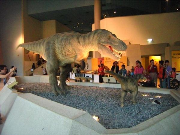 這隻恐龍會動喔~小心被尾巴甩到