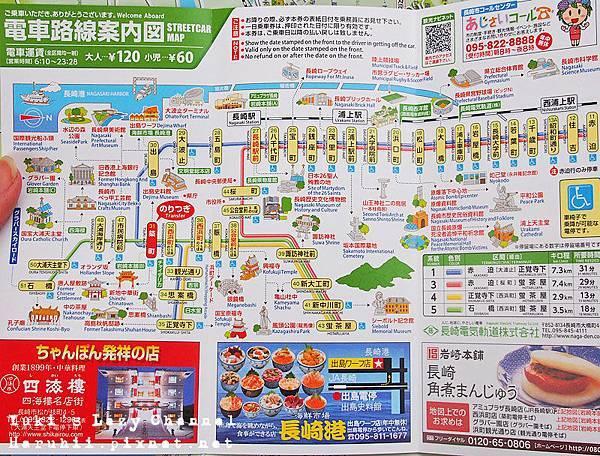 長崎市電路線圖