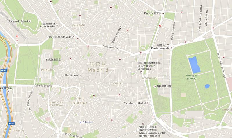 馬德里地圖