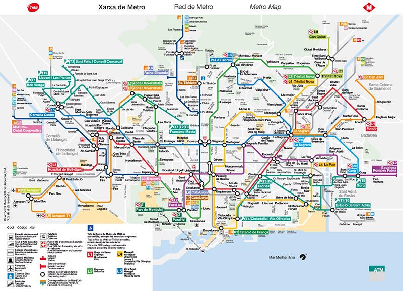 巴塞隆納地鐵地圖