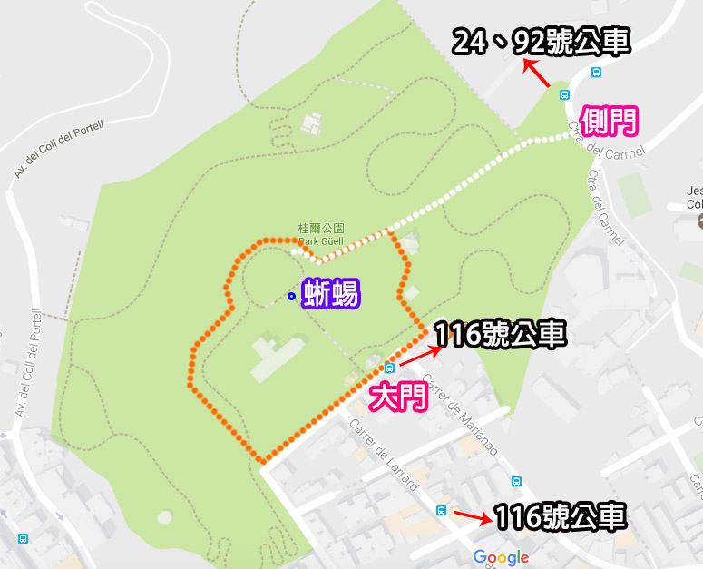 奎爾公園park guell地圖.jpg