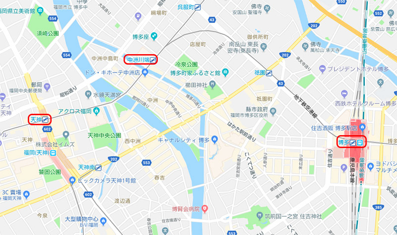 福岡市中心