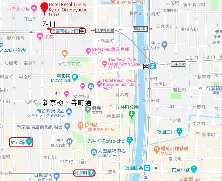 Hotel Resol Trinity Kyoto map.jpg
