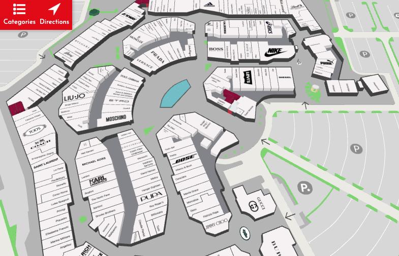 米蘭Outlet Serravalle Designer Outlet map