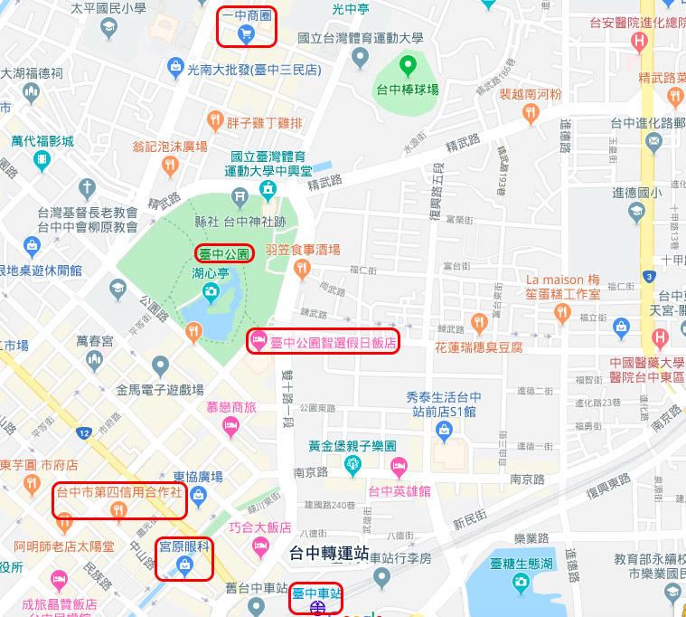 台中公園智選假日飯店Holiday Inn Express Taichung Park map.jpg