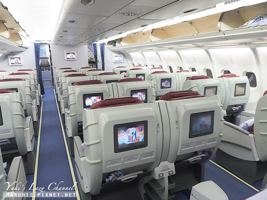華航商務艙A330台北福岡6.jpg