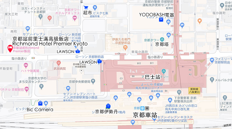 京都站前里士滿高級飯店Richmond Hotel Premier Kyoto Ekimae map.jpg
