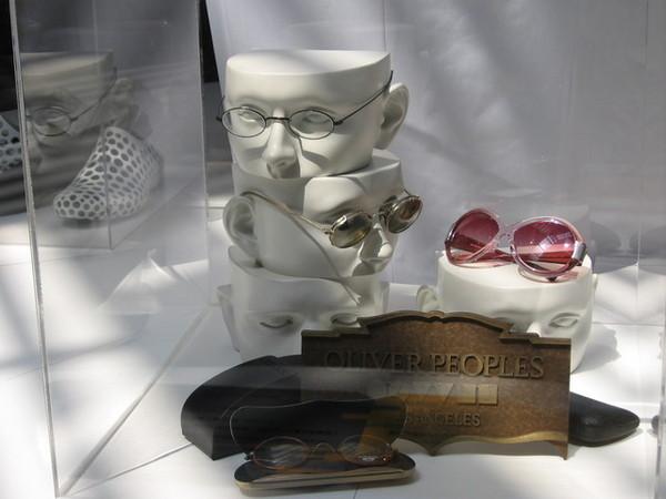 這是人頭形的眼鏡架