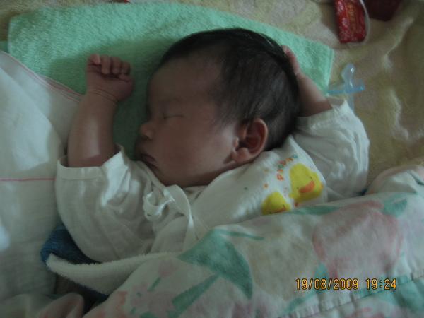 2009-08-19 小沛沛睡到番(1).JPG