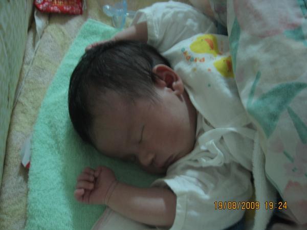 2009-08-19 小沛沛睡到番(2).JPG