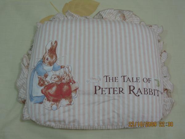奇哥彼得兔小枕頭.JPG