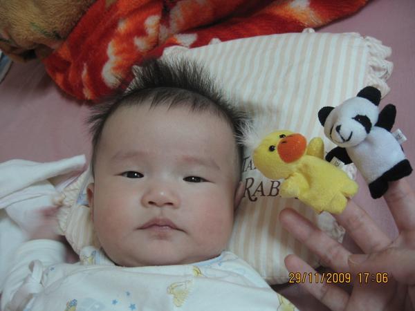 2009-12-1 小沛沛的指套娃娃.JPG