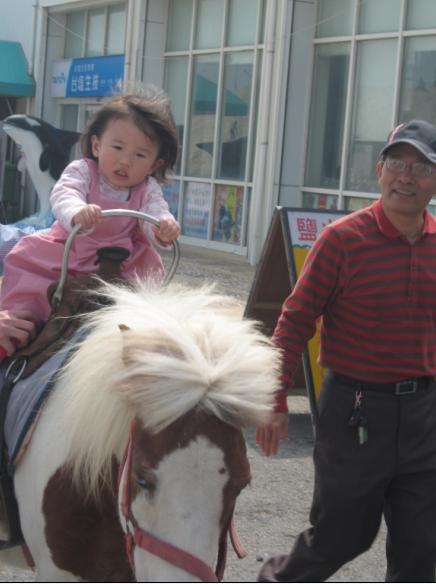 2011-02-26 台南七股鹽山行-小沛沛騎馬嚕2.JPG