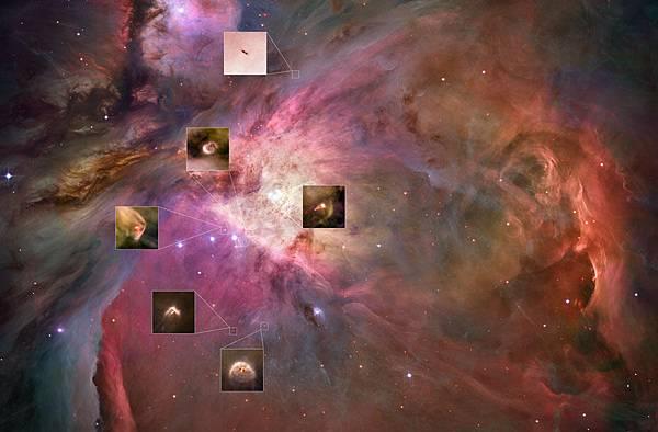 獵戶座正在誕生行星系統