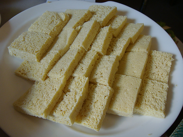 大鍋底的凍豆腐.JPG