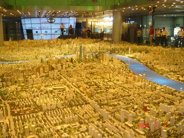 未來的上海市模型