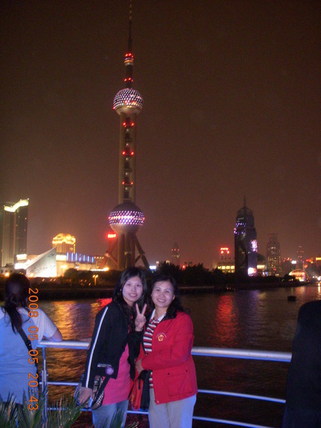 東方明珠的夜景照