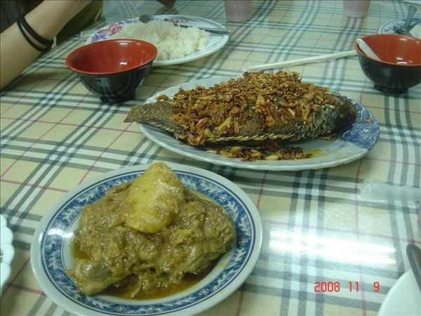 咖哩雞&炸魚